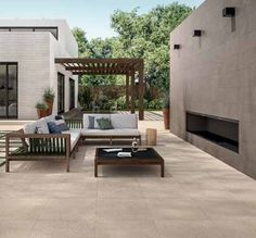 Luxstone Sand 2cm Paving Slabs are a  stunning #flooringchoices Outdoor Tiles, Outdoor Flooring, Outdoor Spaces, Paving Slabs, Outside Room, Garden Furniture, Stoneware, Tile Floor, Lawn Furniture