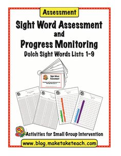 FREE sight word assessment (Dolch 220 sight words) with student recording forms and progress monitoring graphs! Great for RtI! FREE sight word assessment (Dolch 220 sight words) with student recording forms and progress monitoring graphs! Great for RtI! Dolch Sight Word List, Teaching Sight Words, Sight Words List, Sight Word Activities, Word Games, Word Study, Word Work, Classroom Freebies, Classroom Ideas