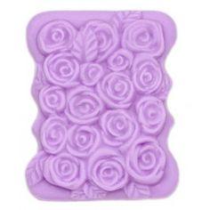 Molde para pastilla de jabón Rosas, molde de silicona ideal para #hacerjabones, muy indicado para #hacerdetalles, hazlo tu mism@. #diy