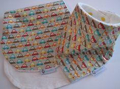 Drool Bib and Burp Cloth Set  Bandana bib in by RagamuffinsandCo