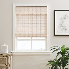 Bamboo blinds add a stylish twist to needed window treatments. The whitewash details transforms bleak to chic and complements decor for simplicity and style.