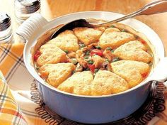 """Savoury Chicken and Biscuits - featured in Reader's Digest """"Like Grandma Used to Make"""" 1996"""