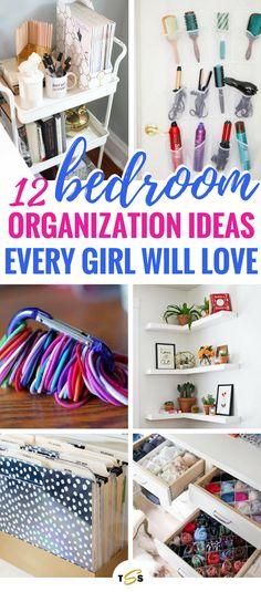 Bedroom organization hacks that are the BEST! Really helped me organize my room in no time and keep the clutter under control for a long time. So glad I tried them because these organization and storage tips worked really well! Definitely worth a shot! #organization #organizationhacks #bedroomtips #roomdecor