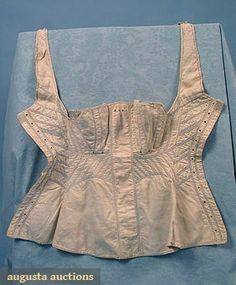 2 Handsewn Corsets, 1820-1830, Augusta Auctions, March/April 2005 Vintage Clothing & Textile Auction, Lot 330