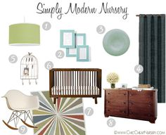 Simple Modern Nursery Design Board Inspiration