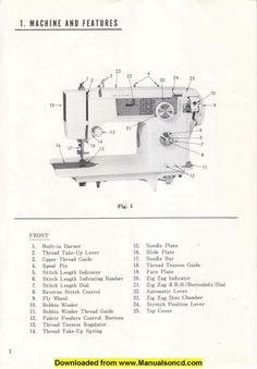 morse sewing machine replacement parts