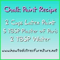 chalk paint recipe / how to make chalk paint.