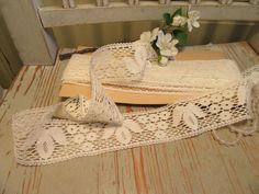 Elaborate Swedish bobbin lace made of linen. by CottageChicCoqueto