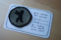 Handmade Zombie Badge by Lizette Greco, via Flickr