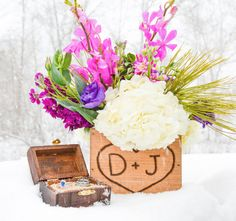 Wedding Wooden Centerpiece BOX - Woodland flower box - Country Barnwood style Planter Personalized Heart with Initials - Table decoration Country Barn Weddings, Rustic Weddings, Wooden Centerpieces, Table Decorations, Woodland Flowers, Wedding Boxes, Flower Boxes, Handmade Wedding, Barn Wood