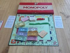 1972 VINTAGE ORIGINAL MONOPOLY PROPERTY TRADING BOARD GAME METAL MOVERS