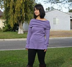 Womens Off The Shoulder Top & Tunic (XS-5X)  EYMM Sewing Patterns www.eymm.com