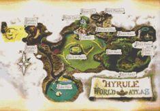Zelda OoT Hyrule Map Cross Stitch Pattern by ServoStitches on Etsy