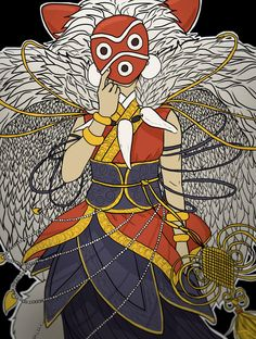 Princess Mononoke - San that outfit tho Studio Ghibli Art, Studio Ghibli Movies, Fanart, Mononoke Cosplay, Manga Anime, Anime Art, Chibi, Castle In The Sky, Film Studio