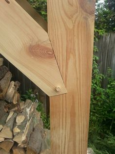 Timber frame joint.