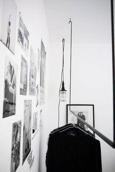 Style as a Souvenir: Parisian Bedroom in Amsterdam Interior Inspiration, Room Inspiration, Interior Architecture, Interior And Exterior, Parisian Bedroom, Mini Loft, Hanging Racks, Retail Design, Scandinavian Design