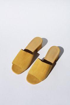 MNZ Sophie Slide - Mustard Suede