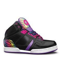 Look what I found on #zulily! Black & Purple NYC 83 Leather High-Top Sneaker - Kids by Osiris Shoes #zulilyfinds