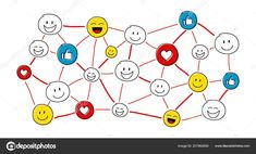 Download - Funny social media network with hand drawn emoticons. Vector. — Stock Illustration Funny Emoticons, Funny Emoji, Eps Vector, Vector Free, Vector Stock, Social Media Etiquette, Pictogram, How To Draw Hands, Symbols