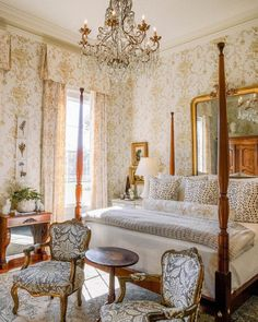 Sweet Home Alabama: A Century Restoration - The Glam Pad French Country Bedrooms, French Country House, French Country Decorating, European Bedroom, Bedroom Country, Country Living, Discount Bedroom Furniture, Sweet Home Alabama, Home Bedroom