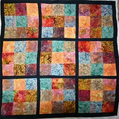 Sudoku Quilt : Custom Machine Quilting by Bright threads Quilting, Pittsbutg on Batik fabric