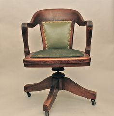 love a library or bankers chair like this for my antique desk