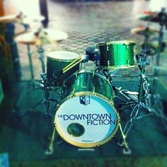 The Downtown Fiction. Kyle's drums :)