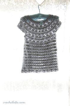 Free pattern crochet top. Gehaakt topje. Erg leuk!