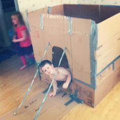 The cardboard castle.