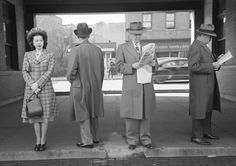 Waiting At The Station, photograph by Esther Bubley.  Hinsdale, Illinois, 1948.