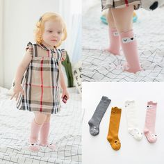 93b90ae7cee Kids Long Socks Knee High toddler Girls Boot Sock Leg Warmer Cute Cat Black baby  Cotton Sock for baby girls sloth socks