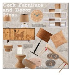 """""""Cork Decor"""" by arethaman ❤ liked on Polyvore featuring interior, interiors, interior design, home, home decor, interior decorating, TemaHome, Wrong for Hay, Universal Lighting and Decor and Mind the Cork"""