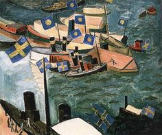 Isaac Grünewald The flag in Port.