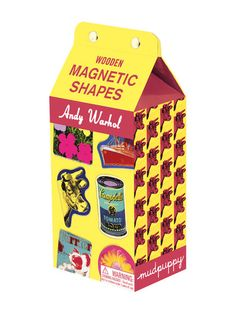 Andy Warhol Magnetic Shapes by Galison Mudpuppy at Gilt