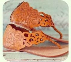 CHICITA LEATHER SANDALS $109.95 Gorgeous bohemian hand tooled leather sandals. Perfect for the summer months. Leather softens with wear.