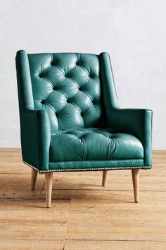 Slide View: 1: Premium Leather Booker Armchair