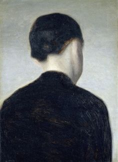 inspirationsandruminations: Vilhelm Hammershøi, Seated Figure (Anna Hammershoi), c. 1884
