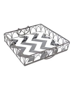 Another great find on #zulily! Black & White Zigzag Tray by  #zulilyfinds
