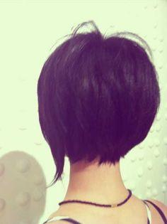 I really like this kinda bob cuts - short with long parts at the end. / 25 Short Bob Haircuts   2013 Short Haircut for Women