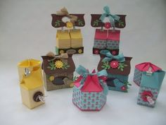 Stampin up! Milk carton gift boxes. Love these!! x