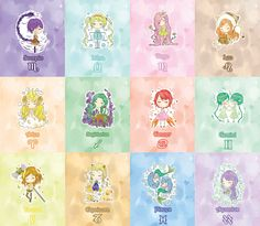 Dreamy zodiac girls