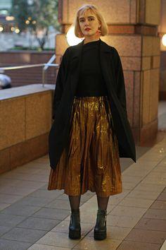 Japan Fashion Week Fall 2016 street style [Photo: Onnie A. Koski]
