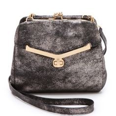 """::SALE:: HP🎉""""Valentina"""" frame bag Great little purse with unique details and fantastic construction! Used but in good condition. Only area of (noticeable) wear on the outside is on the metal turn lock. See image #3. Also, small stains on inside fabric. 🚫trades Botkier Bags Crossbody Bags"""