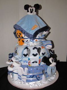 Mickey Mouse Diaper Cake picture by MaureenColeman - Photobucket