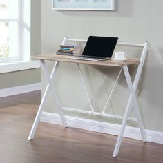 Wooden Black or Oak Computer PC Desk Home Office Writing Table Workstation Metal