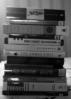 Inspired by Katya and Paul.    Took a photo of whatever books were lying on my bed at this exact moment. (I piled them up before I did.) I think I had even more books sitting on my desk at the same time.    I've read everything I own now though, so anyon Brilliant book, must read