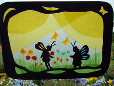Jahreszeitentisch -  Transparentbild Im Reich der Schmetterlinge - ein Designerstück von Puppenprofi bei DaWanda