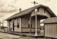 Vintage photo of Bertram, Texas train depot