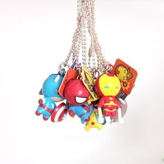 Disney John] Figures Marvel Collection Keychain -Country of origin: China material: plastic etc. size: 4cm