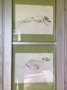 Cupboard 's detailsPainted by lucillabollati.com#greyhounds#dogs#art